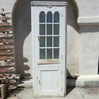 CORNER CHINA CABINET Shabby Chic COUNTRY FARMHOUSE Cottage AMERICAN Cupboard