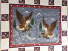 Soar Fly with Eagle By the Panel Top Fabric patriotic red blue quilting America