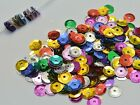 3000 Mixed Color 8mm CUP round loose sequins Paillettes sewing Wedding craft