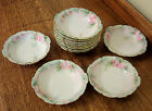 Pouyat French Limoges Ice cream Bowls, hand painted, set of 12 in soft pastels