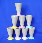 8 ICE CREAM CONES - KNOBLER - CERAMIC - WAFFLE SHAPE DESIGN - GREAT DESIGN JAPAN
