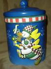 DEBBIE MUMM Sakura SNOW ANGEL VILLAGE Jar CANISTER