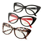 Sexy Fashion Cat-Eye Shape Women Girls Plastic Plain Clear Lens Eyeglasses FST