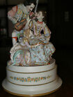 1850es FRENCH FIGURINE LAMP MAN PLAYING MUSIC TO LOVER