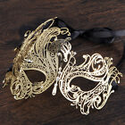 Luxury Gold Elegant Metal Laser Cut Venetian Halloween Ball Masquerade Mask cool