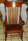 Quartersawn Oak Slat Back Rocker / Rocking Chair  (R195)