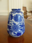 Auth Mid Century Japanese Miniature Porcelain White Blue Pear-Shape Vase JAPAN