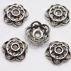 100Pcs Tibet Silver Plated Alloy Metal Spacer Bead Caps Jewelry Findings DIY 8mm