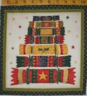 CHRISTMAS Fabric Square Makower UK Wishes Presents Pillow Quilt Block Gold OOP