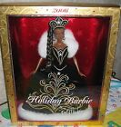 Bob Mackie 2006 Holiday Barbie Doll African American Black Gown White Faux Fur