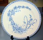 Lovely Aesthetic 1883 BLUE FLORAL HAWTHORN DINNER PLATE, T G & F Booth  England