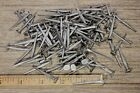 """ BRAD NAILS 100 lot antique square wrought iron look round flat heads 1.5"