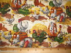 Sunny Side Up Farm Fabric 3 yd 108x44 END BOLT rooster cotton quilting new green