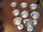 set of 8 Vintage EL Silver Plate Dellberti Goblet Cups ITALY unused tall chalace