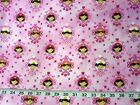 Little Princess Faces Northcott Quilt Fabric by the 1 2 yd 43 21