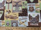 Air traffic control 2nd Squardron fabric 36th 1 yd Quilting Remnant cotton Eagle