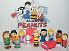 Peanuts Toy Figure Set of 13 with Snoopy Woodstock Dog House Charlie and More