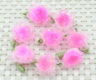 10Pcs Organza Carnation leaf Flower Appliques/craf​t/Wedding decoration H476