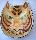 Carr Whimsey's Tiger Ceramic Dish Orange Brown Striped Jungle Cat #2