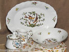 Georges Briard Woodland Melody Hostess Set NIB Platter Bowl Creamer Sugar Birds