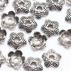 100Pcs Tibet Silver Plated Flower Spacer Bead Caps Jewelry Findings DIY 6x15mm