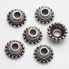50Pcs Tibet Silver Plated Cute Arch Spacer Bead Caps Jewelry Findings DIY 8x3mm