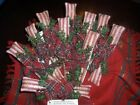 Primitive Christmas Peppermint Stick Candy - Mica flakes - Ornies / Bowl Fillers