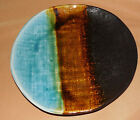 PIER 1 ONE Brown Green Blue CASSIDY Textured SALAD PLATE Stoneware