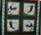 1 Yd. Wildlife Pillow Panel Quilt Fabric Eagles Eagle Mountains Soaring High