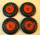 4 VINTAGE RUBBER TOY TRACTOR TIRES GOODYEAR