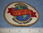 vintage Nashville TN Country International Country Music Fan Fair oval patch