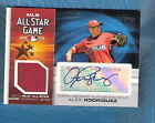 ALEX RODRIGUEZ AUTO 2010 TOPPS ALL STAR JERSEY #25 25