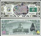 Lot of 500 BILLS - WASHINGTON STATE MILLION DOLLAR w MAP, SEAL, FLAG, CAPITOL