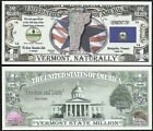 Lot of 500 BILLS - VERMONT STATE MILLION DOLLAR w MAP, SEAL, FLAG, CAPITOL