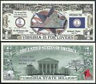 Lot of 500 BILLS - VIRGINIA STATE MILLION DOLLAR w MAP, SEAL, FLAG, CAPITOL