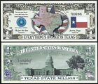 Lot of 500 BILLS -TEXAS STATE MILLION DOLLAR w MAP, SEAL, FLAG, CAPITOL