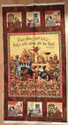 A PALS AT PLAY WITH PUPPY DOGS AND KITTY CATS COTTON QUILTING FABRIC PANEL