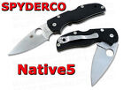 Spyderco Native5 Folder Plain Edge G 10 Handle C41GP5 NEW