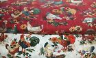 1 Yd Concord Quilt Fabric Homestead U Pick Rooster Chicken Flowers Red White