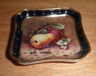 Gold Gilt English Coalport MINIATURE hand painted fruit tray