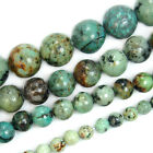 Natural Blue African Turquoise Round Gemstone Beads 155 4 6 8 10 12mm Pick