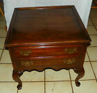 Cherry Ethan Allen End Table / Side Table with Drawer  (T491)
