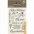 Best Wishes Wedding Sentiments Clear Acrylic Stamp Set by Hero Arts CL360 NEW