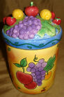 Sango SANGRIA Sue Zipkin FRUIT Grape Cherries MEDIUM Canister