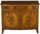 Antique Style Vintage Bow Front Mahogany Cabinet Cupboard Storage Media Piece FS