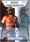 TNA James Storm 2012 Reflexxions RED Authentic Autograph Card SN 21 of 25