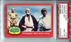 1977 Star Wars Topps #119 Threepio Ben and Luke! Trading Card PSA 8 C-3PO Red