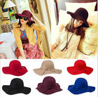 NEW Chic occident women Woolen large wide brim fashion winter Hat many color