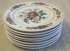 Hutschenreuther Black Knight Luncheon Plates set of 8, 1930, hand painted