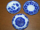 3 Small Antique blue and white procelain dishes